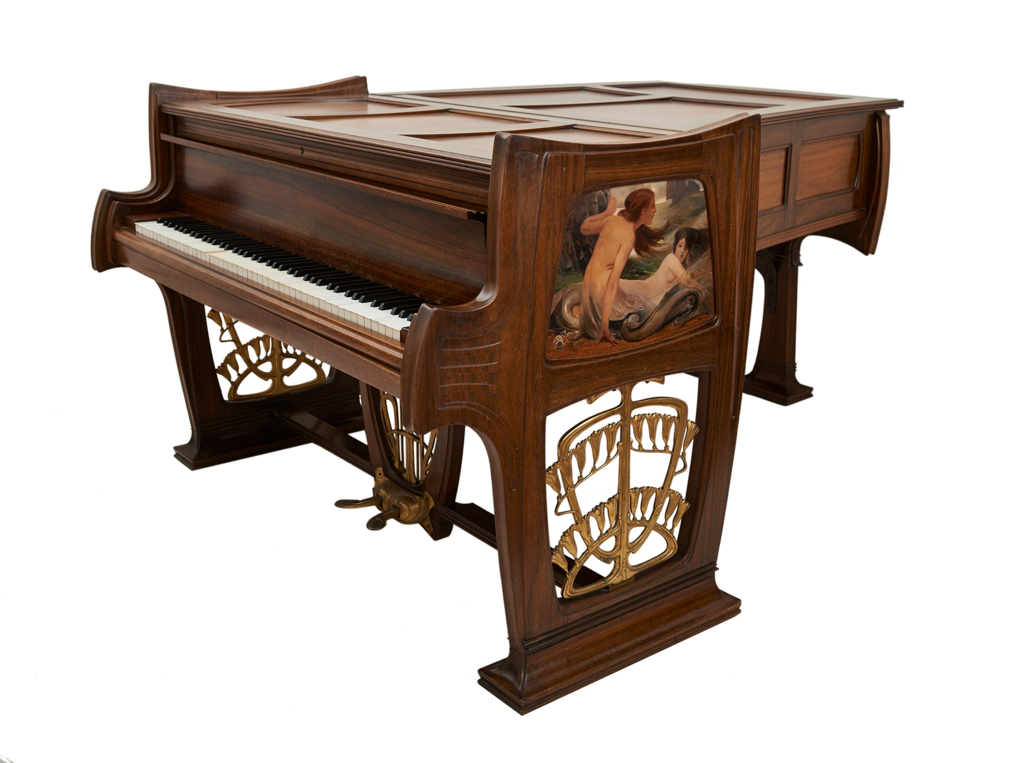 piano demi queue pleyel du salon de musique du. Black Bedroom Furniture Sets. Home Design Ideas